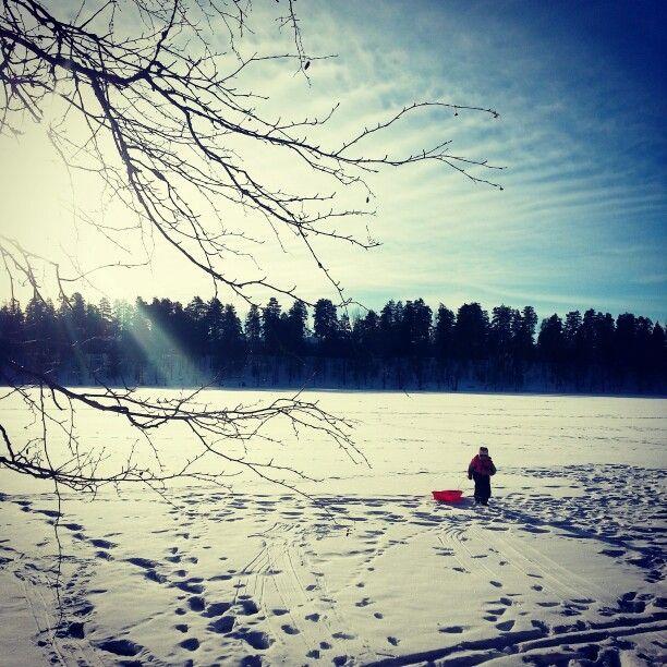 february. helmikuu ja laskiainen. #finland #lake #ice