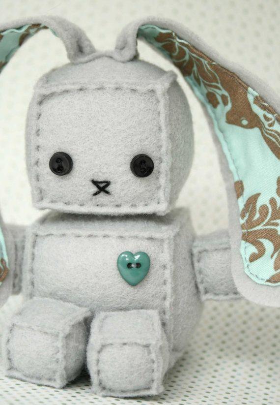 Robot Bunny Plush