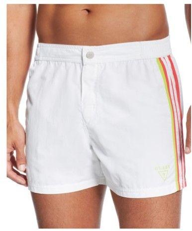 GUESS Mens Retro Swim Bottom Board Shorts opticwhite XL