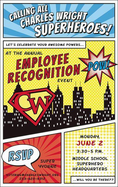 superhero employee recognition event