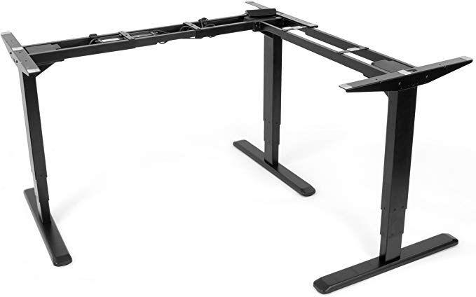 Amazon Com Vivo Electric Motor Sit Standing Height Adjustable Corner 3 Leg Desk Frame Frame Only Sit Stand Er In 2020 Standing Desk Sit Stand Desk Adjustable Desk