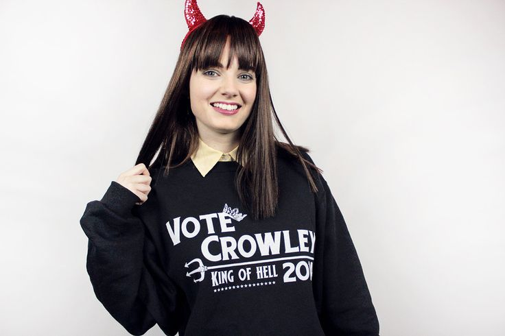 Vote Crowley Sweatshirt - S-2XL - Supernatural Joke Design Winchester Abaddon Hoodie (35.00 USD) by AndroidSheepFTW