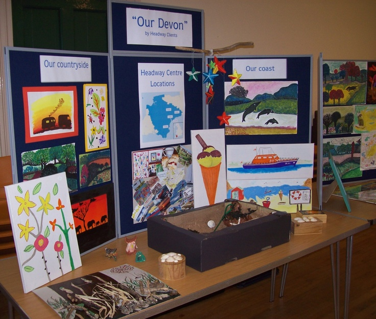 The artwork display from our Action for Brain Injury Week roadshow exhibition