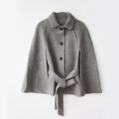 Redcurrent Grey Rebecca Wool Cape $295.00.
