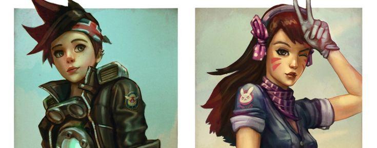 Personagens de Overwatch estilo Rockabilly  - http://www.garotasgeeks.com/personagens-de-overwatch-estilo-rockabilly/