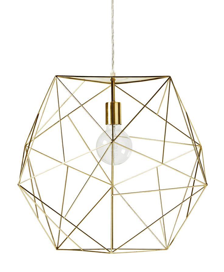 En spännande och annorlunda taklampa som ger ett luftigt intryck. Komplettera med en snygg ljuskälla för rätt känsla.
