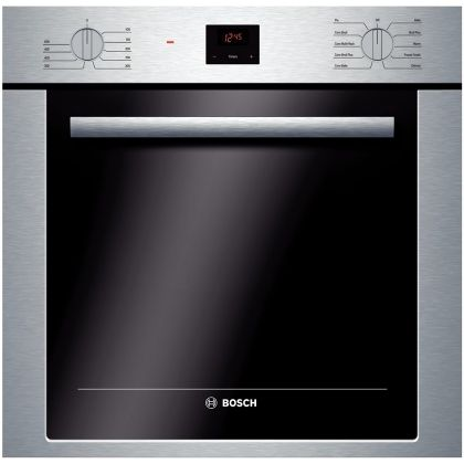 "Bosch 500 24"" 240/208 Volts Self Cleaning Single Wall Oven with Convection Cooking, DualClean™ System, CSA Certified in Stainless Steel HBE5451UC at appliancesconnection.com. This Bosch single electric wall oven offers the best cooking experience and comes packed with a variety of features making it fit almost any cooking style! #sleek #highperformance #boschbro"