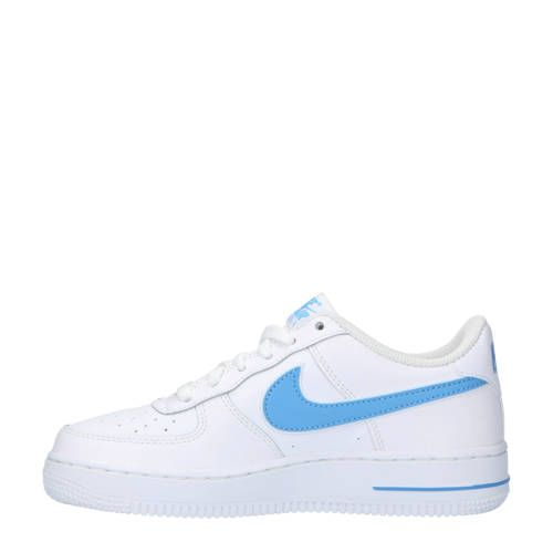 Nike Air Force 1-3 (GS) sneakers leer wit/lichtblauw ...