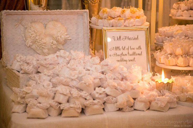 """""""Well Married"""" and other sweets in a traditional Brazilian sweets table in a wedding in Kuwait! The first Brazilian couple to get married in that country!"""