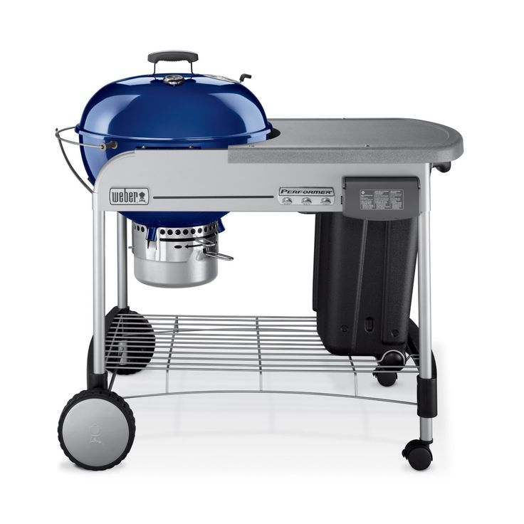 The Weber charcoal grills come in various sizes to accommodate the space you've got available in your lawn or the total amount of food you are cooking.