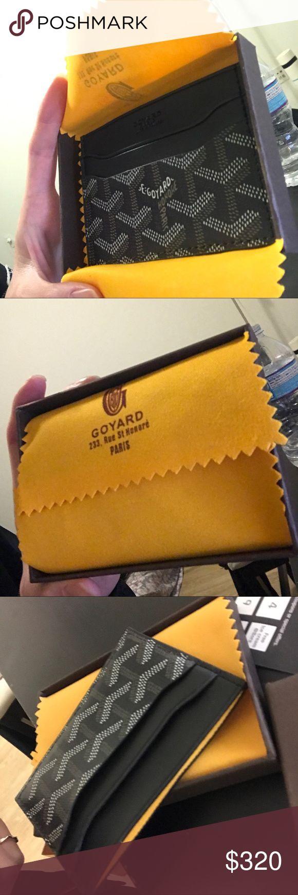 Goyard Card Holder Goyard card holder, never used. Black. With box. Auth. Make me an offer! Goyard Bags Wallets