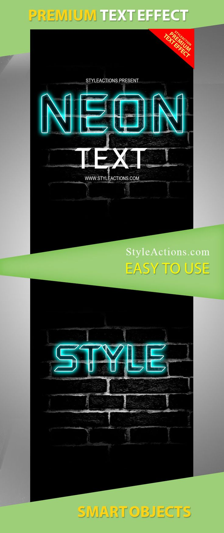 Neon Text Effect 19196 Text effects, Neon, Psd flyer
