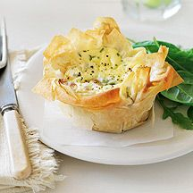 Weight Watchers Zucchini Baby Spinach Quiche 6pts      6 sheet(s) uncooked filo pastry, (90g)       1 medium zucchini, coarsely grated       75 g baby spinach leaves       5 medium egg(s)       2 tbs fresh chives, finely chopped     1 1/3 cup(s) Sour Cream     90 g Cheese, 50% Reduced Fat, Tasty Cheddar, Grated       150 g Aldi Be Light Cottage Cheese