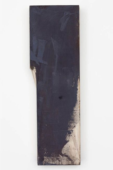 "Lydia Gifford, ""Raises"" (2012), wood, canvas, pigment, tempera, 30 x 9.8 x 4 in. (image courtesy of the Artist and Galerie Micky Schubert, L..."