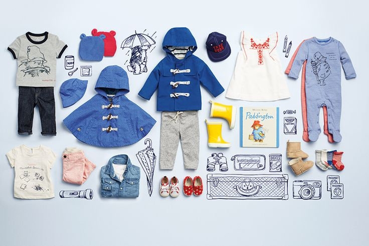 PADDINGTON BEAR FOR BABY GAP - BLEUBIRD