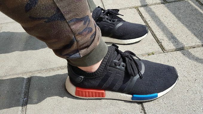 MIDNIGHT ONLINE Adidas NMD_R1 Black / Earth / Tech Ink Credit : PacSun