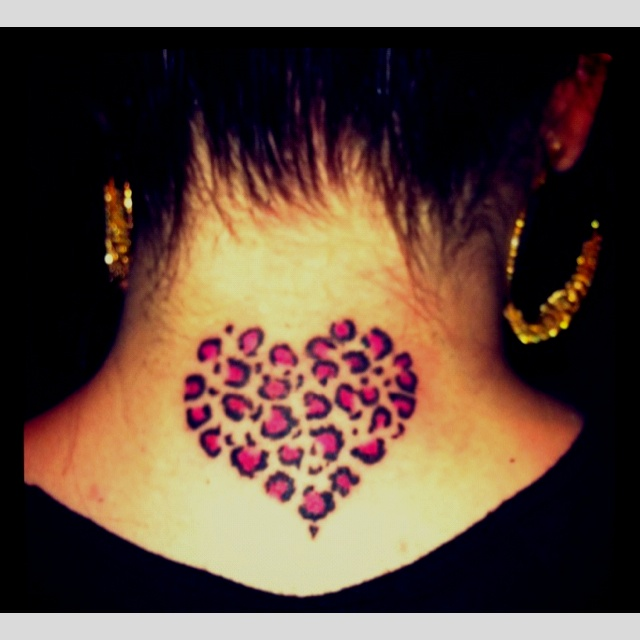 My heart cheetah tattoo! <3 love it...