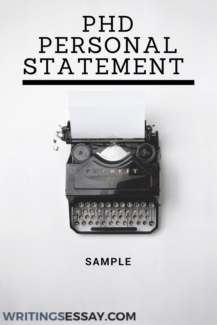 Phd personal statement writing service