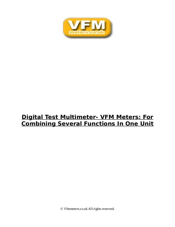 Fluke's digital multimeter and test equipment with non contact voltage detection & remote display. Order a built-in thermometer and microamp meter today!