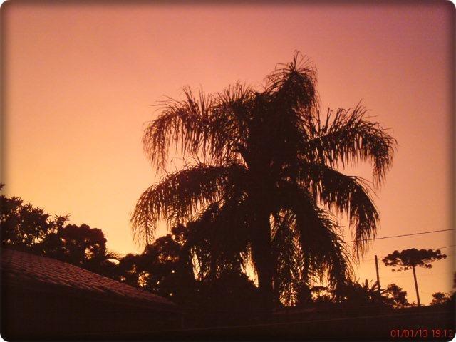 gorgeous sunset in Curitiba