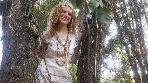Stones necklace tassel necklace colar de pedras by EstilodeSer