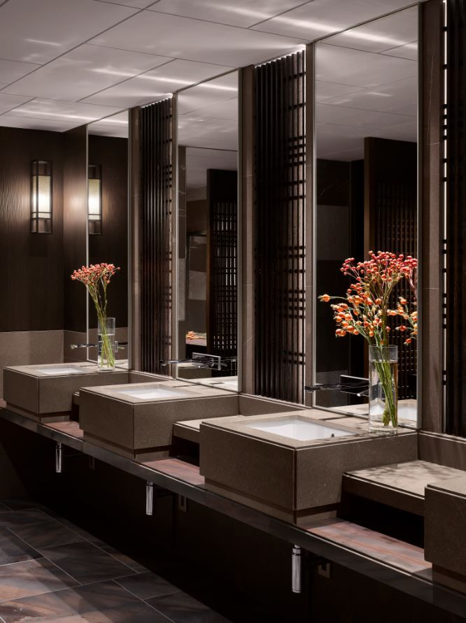 Photo of Public washrooms at the Four Seasons Kyoto by HBA Design.