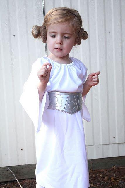 Disfraz de princesa Leia, de la Guerra de las Galaxias.