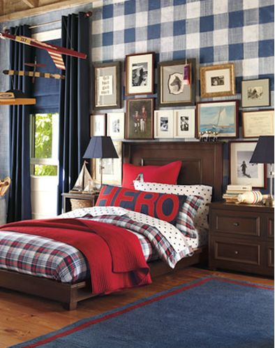 Bedrooms For Boys. I Am Loving The HERO Pillow! If We Ever Had A