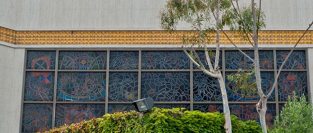 Exterior of stained glass by Susan Hertel by peterl, via Flickr