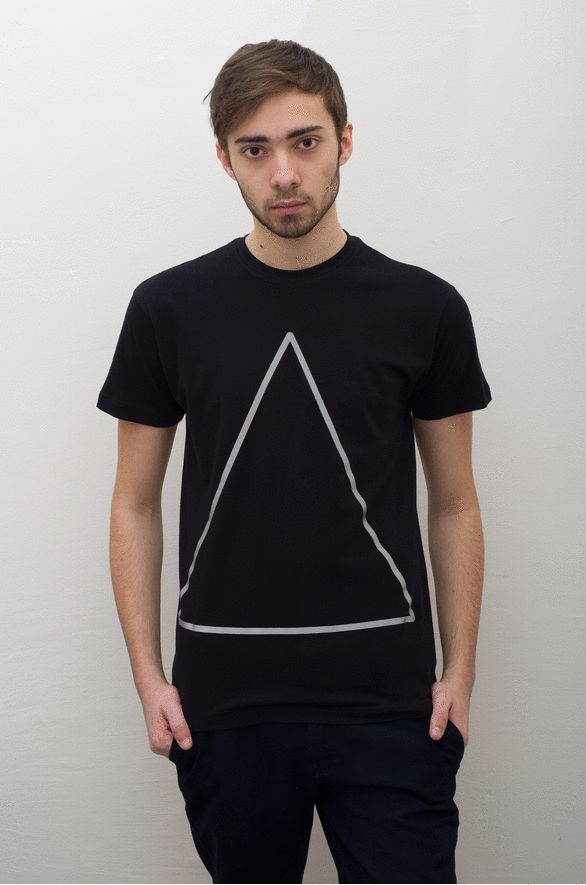 Reflective Triangle Black T-Shirt