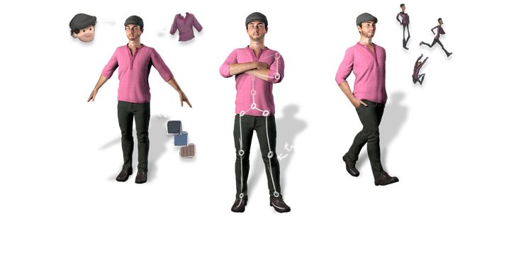 Creating your characters is easy with Mixamo's 3D animation software