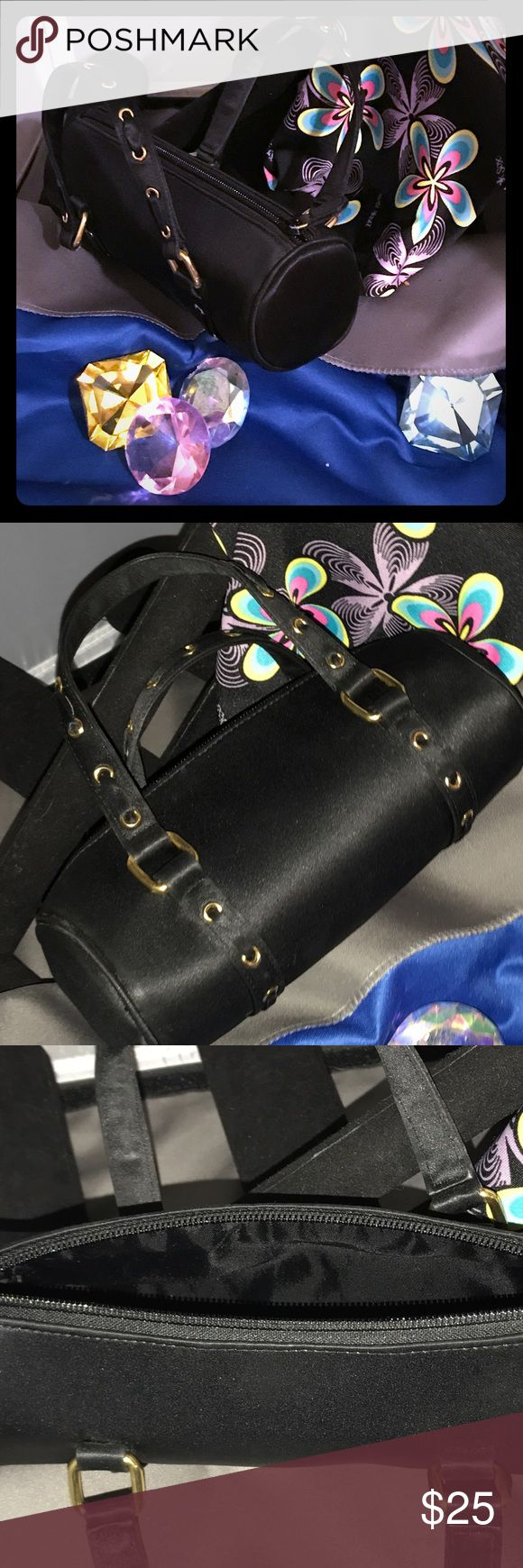 Nicole Miller Mini Shoulder Bag Super Cute Black Nicole Miller Mini Duffle Style Shoulder Bag. No visible flaws to either interior or exterior of Bag. Nicole Miller Bags Shoulder Bags