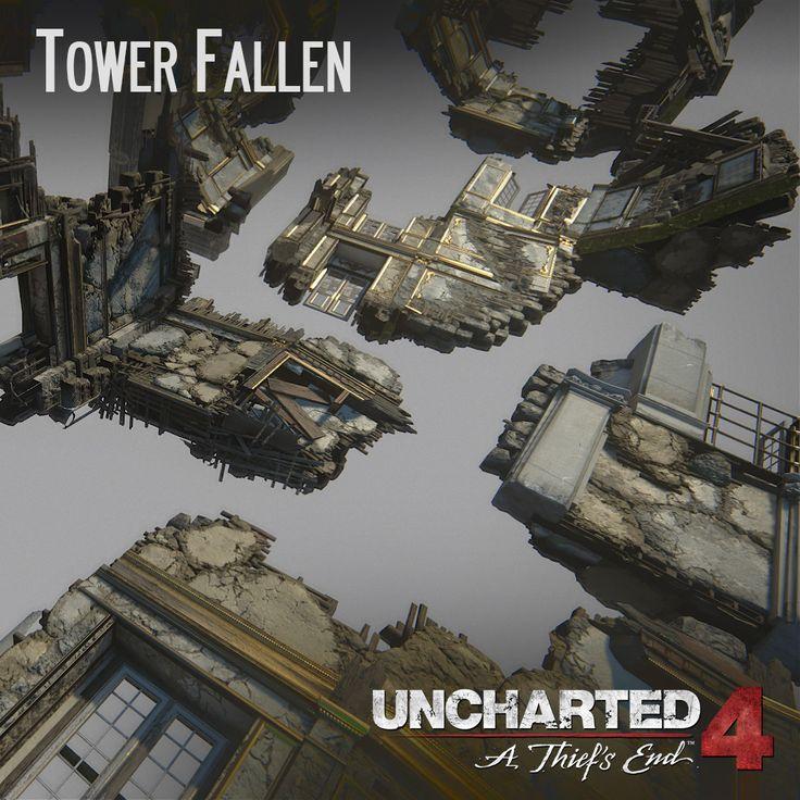 Uncharted 4 - Tower Fallen, Andres Rodriguez on ArtStation at https://www.artstation.com/artwork/XDkDw
