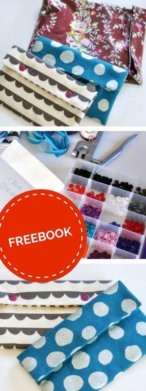DIY-Anleitung: Kleines Täschchen mit KAM Snaps oder Drückerband & der schnelle Waschbeutel