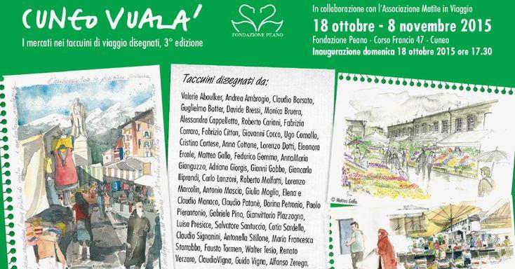 Dal 18 ottobre all'8 novembre 2015 a Cuneo nei suggestivi spazi della Fondazione Peano si terrà la 3° edizione della manifestazione dedicata al Carnet di viaggio disegnato nella Provincia Granda. O...