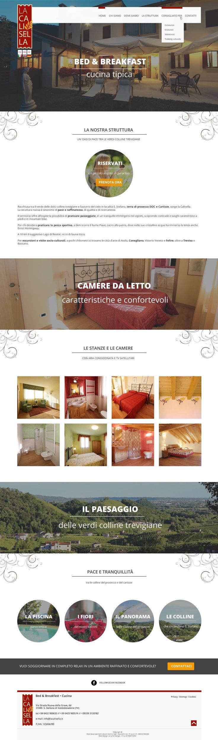 Bozza grafica per il restyling de La Calisella, bed & breakfast sulle colline di Valdobbiadene. copyright Jellyfish Design