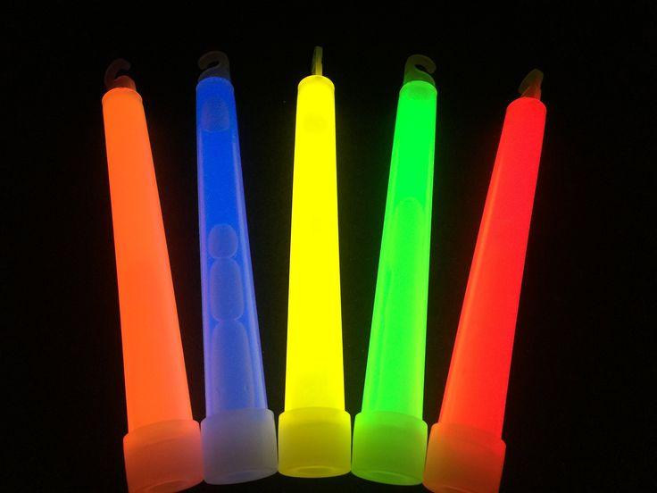 """Glow Sticks Bulk Wholesale, 100 6"""" Glow Stick Light Sticks Assorted + 100 FREE Glow Bracelets BONUS, Glow With Us Brand"""
