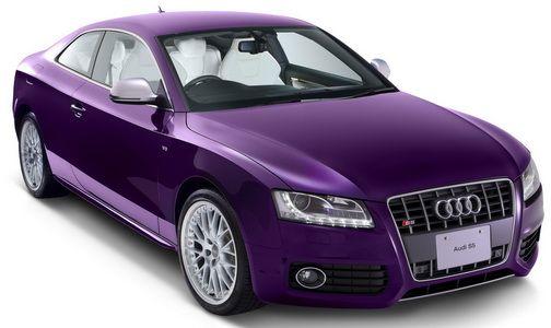 Purple Audi S5 Coupé Exclusive Special Edition 2009 Japan