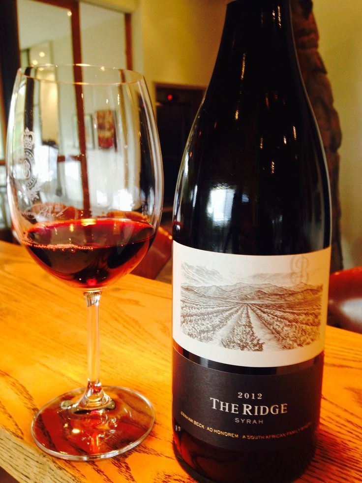 The Ridge Syrah 2012 Graham Beck❤️