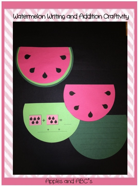 Watermelon CraftWatermelon Crafts, Watermelon Addition, Teaching Resources, Watermelon Ads, National Watermelon, Math Activities, 8 3 Watermelon, Writing Activities, Kindergarten Klub Com