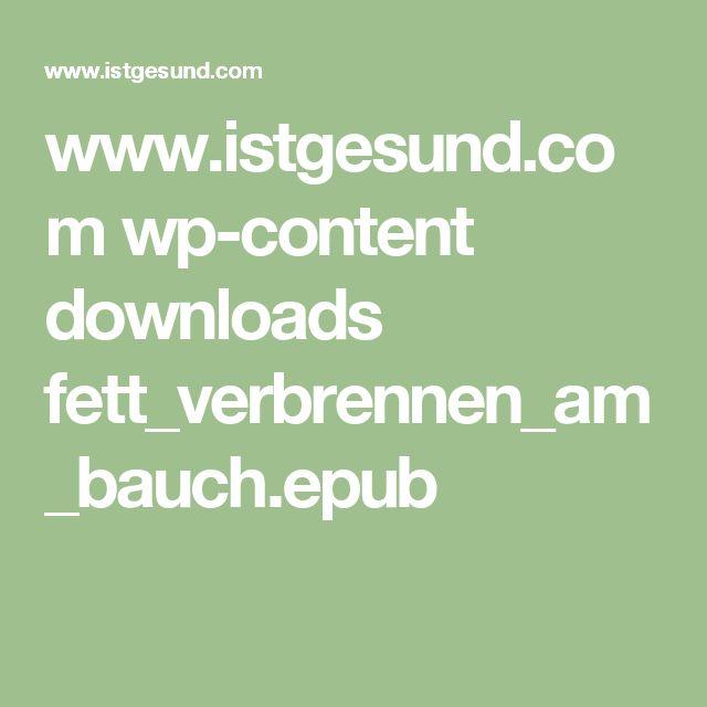 www.istgesund.com wp-content downloads fett_verbrennen_am_bauch.epub