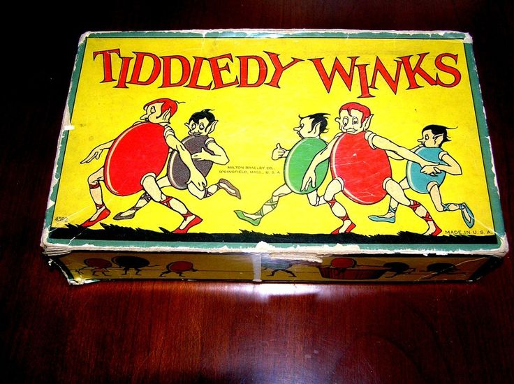 Tiddledy Winks Game, Milton Bradley Co., eary 20th c. from Line State Antiques on Ruby Lane