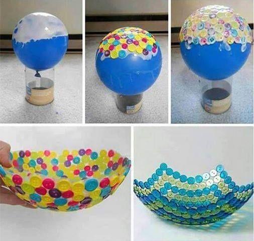 DIY Cute Button Bowl --> http://wonderfuldiy.com/wonderful-diy-cute-button-bowl/