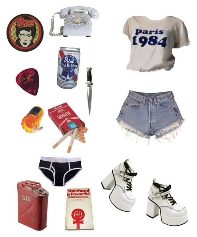 """""""Cherie Currie"""" by rhileystarboy ❤ liked on Polyvore featuring CO, B. Ella and Levi's"""