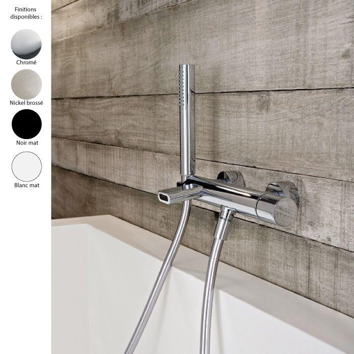 mitigeur de baignoire mural design