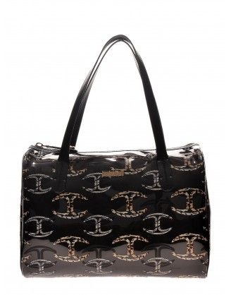 #justcavalli #handbag #women  COLLECTION: 2014 COLOUR: black inner compartment MATERIAL: polyurethane, textile DETAILS: Just Cavalli Hand Bag, Two Short Handles, Zip Closure http://houseoffashion.gr/index.php?route=product/product&path=33_70&product_id=179