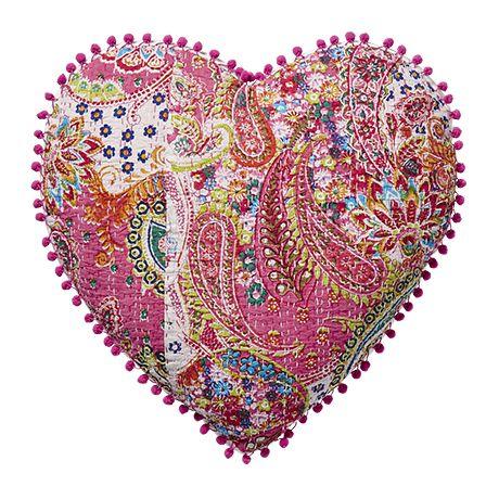 Poduszka Pocahontas w kształcie serca ø50x6cm