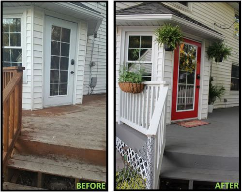 deck makeover - before and after