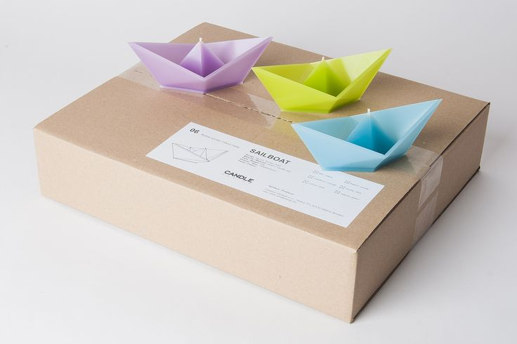 Floating candle Sailboat - 6pack multicolour