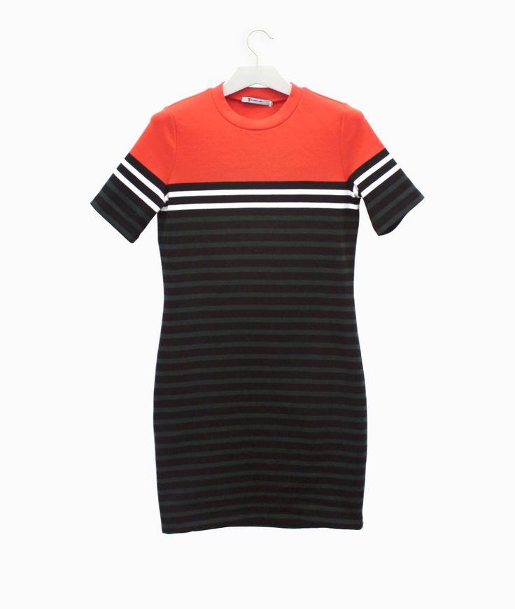 Stripped dress by Alexander Wang #arropame #conceptstore #bilbao #ss2016 #AlexanderWang #fashion #shoponline #shopping #trendy #style http://arropame.com/coleccion-completa-alexander-wang-ss16/